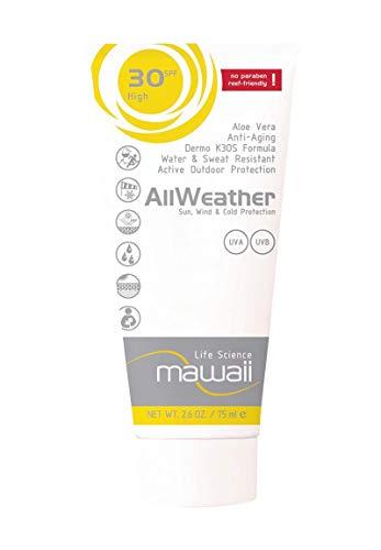 mawaii AllWeather Sun, Wind & Cold protection SPF 30 - wasserfeste und schweissresistente Sonnencreme, reef-friendly, ideal für Wassersport und Outdoor-Sport, Sonnenmilch ohne Parabene (1 x 75ml)