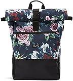 Ela Mo's Rucksack Damen | Schön und Durchdacht | für Uni Reisen Freizeit Job | mit Laptopfach & Anti Diebstahl Tasche | Blumen